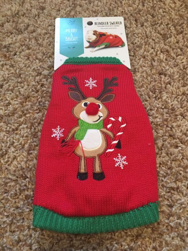 Guinea Pig/Small Animal Costume/Clothes*Reindeer Ugly Sweater*Holiday/Christmas