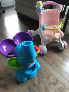 Toys - stroller and Elephant Ball Popper - Jouets