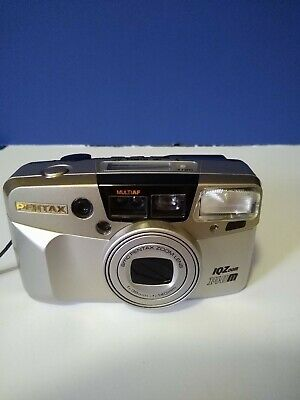 Pentax IQZoom 140m Point And Shoot Camera Silver Nice!