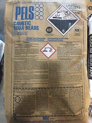Sodium Hydroxide Naoh Fccusp Prilled Minimum 99 Pure 50lb Bag