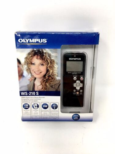Olympus WS-210S Portable Digital Voice Recorder. Up to 138 hours,USB 2.0 direct!