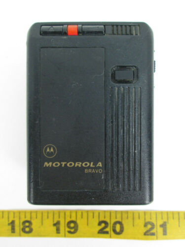 Vintage Motorola Bravo Pager w Clip Paging System Movie Prop Halloween Costume