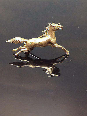 HORSE   750 SOLID 18K GOLD   VINTAGE   PIN / BROOCH    BEAUTIFUL  one of a kind