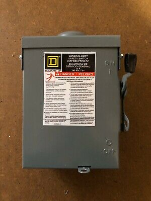Square D D321nrb 30a 120240v 3p 4w Fusible General Duty Safety Switch