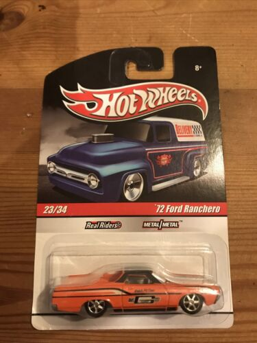 Hot Wheels - 2009 - Delivery - 23/34 - 72 Ford Ranchero - Real Riders - Orange - $5.75
