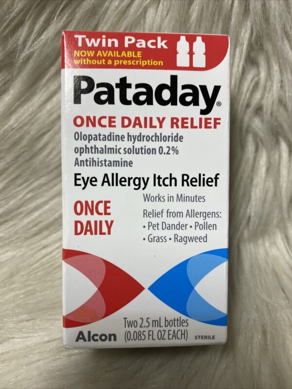 Alcon Pataday Once Daily Eye Itch Relief Twin Pack (2)  EXP 12/2021+