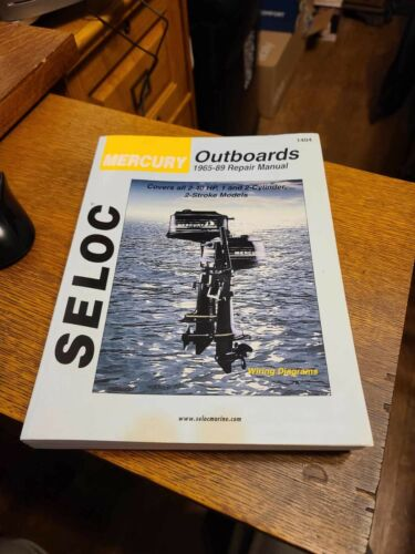 Seloc, Mercury Outboards, 1965-89 Repair Manual, 2-40 HP, 1 and 2 cylinder