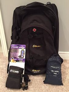 Odyssey 80 travel backpack and pacsafe