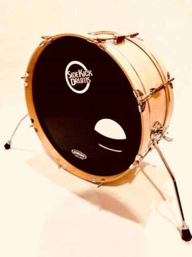 """Side Kick Drums Bass Drum - 8"""" x 20"""" Skinny Bass Drum Pro - Clear Maple"""