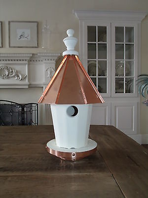 Single Hole Bird House with copper top Amish Made in USA Large 20 Inches High