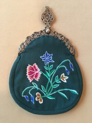 NORWEGIAN BUNAD PURSE WITH BRASS LOCK FROM NORWAY