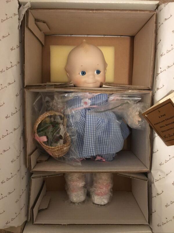 The Danbury Mint Kewpie Porcelain Collector Doll Spring Basket