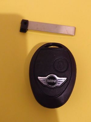 BMW MINI COOPER R50 S ONE CLUBMAN 2 TWO BUTTON REMOTE KEY FOB CASE SHELL BLADE