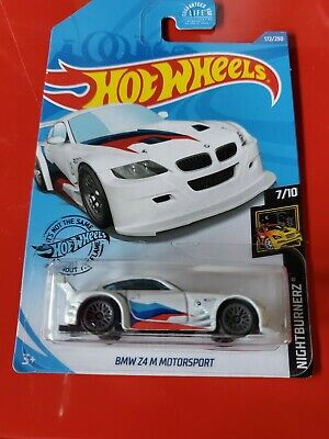2020 Hot Wheels BMW Z4 M Motorsport (White) Nightburnerz 7/10  J Case MOC