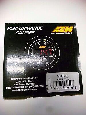 AEM 30-0302 X-Series Electronic 300F/150C Water Temperature Gauge Meter