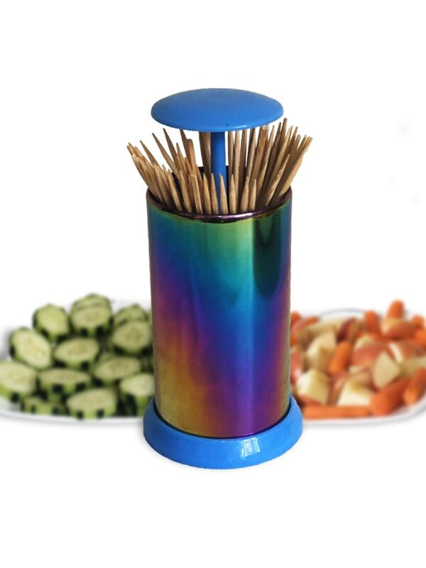 Stainless Steel Retractable Automatic Toothpick Dispenser Holder Container New