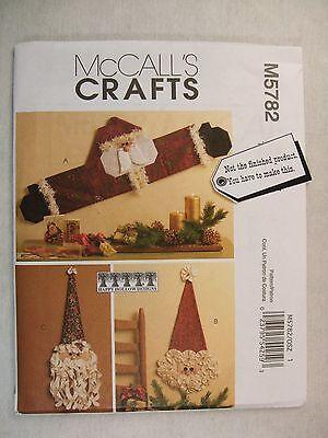 Christmas Santa Wall or Door Decorations sewing pattern M5782 See Full Listing
