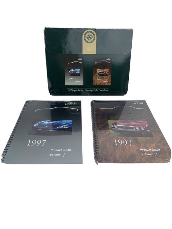 Jaguar 1997 XK XJ Product Guides Volume 1 And 2 Spiral Bound for Dealers NEW