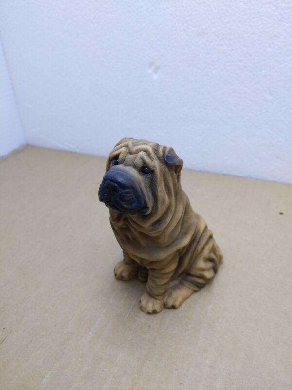 Shar Pei Dog Breed Collectible Figurine Tan Black Regal Castagna Italy 1988