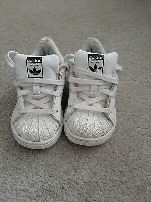 Infant Girls Adidas Superstar Trainers Size 6