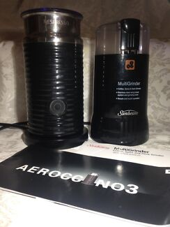 Nespresso Aeroccino3 Milk Frother and Sunbeam MultiGrinder