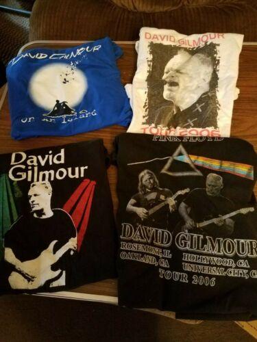 LOT OF 4 DAVID GILMOUR ON AN ISLAND T SHIRTS 2006 L / XL