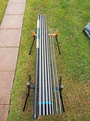 Dam Litanium Exquisit 11m pole 2 top kits silver's match pole fishing