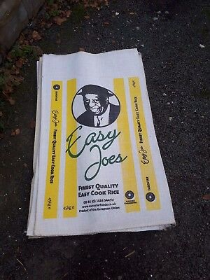 Easy Joe's Vintage Retro Style Rice Sacks Bags Potato Coffee Hessian Jute Burlap