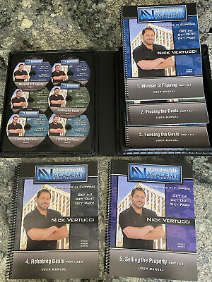 NICK VERTUCCI REAL ESTATE ACADEMY FORTUNES IN FLIPPING 11 CDs & BOOKS COURSE KIT