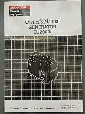 Honda Eu2000i Generator Owners Manual