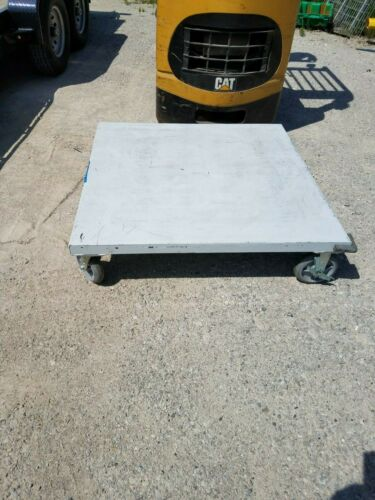 """Ameritek Heavy Duty Steel Pallet Dolly Cart - 48"""" x 48"""""""
