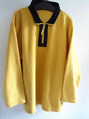 Schwarze Fleece-sweatshirt (Herren Fleece Sweatshirt Größe L 50/52 gelb/schwarz Reißverschluss)