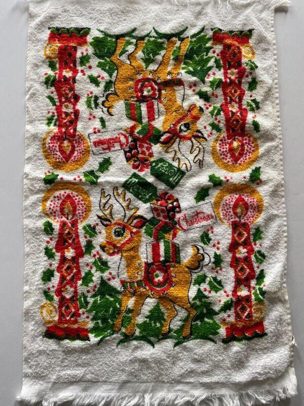 Vintage Christmas Reindeer Hand towel