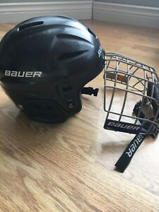 Bauer yth helmet, size 6 - 6,3/4, with mask