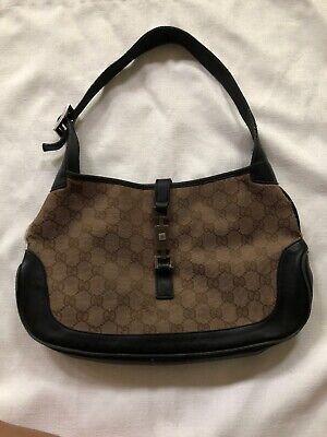 Vintage Gucci Jackie O Brown Canvas Bag