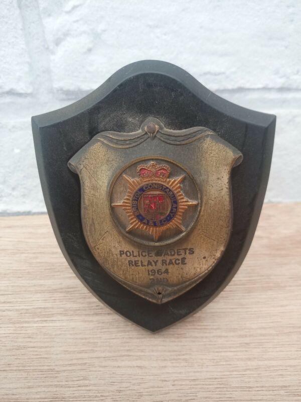 Vintage  Bristol Police Cadet Award plaque 1964