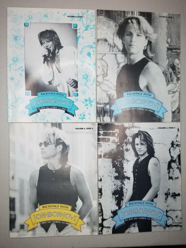 Jon Bon Jovi Backstage Vol 6 Issues 1-4 Official Fan Club Magazine 1993