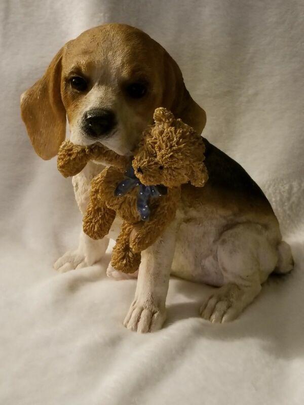 Beagle With Bear Piggy Bank
