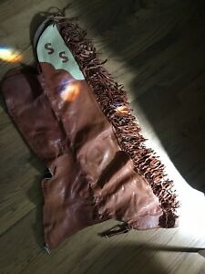 Western Leather Riding Chaps. Approx. Waist Size-30.