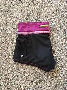 LULULEMON RUN SHORTS SIZE 6