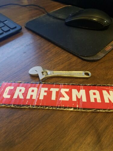 """Vintage CRAFTSMAN WF 4"""" Adjustable Wrench No. 44601 WF MADE IN THE USA"""