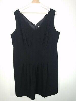Calvin Klein Womens Plus Dress Black Seamed Sleeveless Career LBD Size 20W