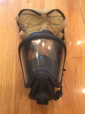 Msa Ultra Elite Respirator Mask Size Medium Used Fire Firefighter Protest