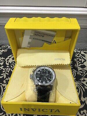 Invicta Unisex 13053 I-Force Quartz 3 Hand Black Dial Watch - NIB