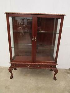 C50032 Lovely Vintage CEDAR China Display Cabinet Claw Ball Feet Unley Unley Area Preview