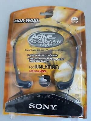 """Sony MDR-W08L """"Active in-the-ear Style"""" Stereo Headphones for Walkman Mega Bass for sale  Shipping to India"""