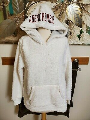 NWT Abercrombie & Fitch Women's Sherpa Fleece Pullover White Size Small $68