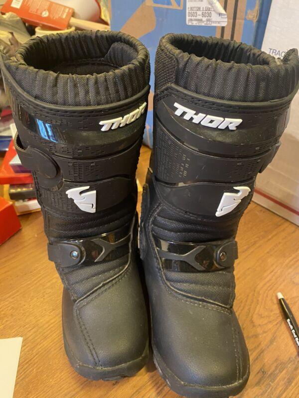Thor Blitz XP Mini kids size 12 riding dirtbiking boots! worn once! $140