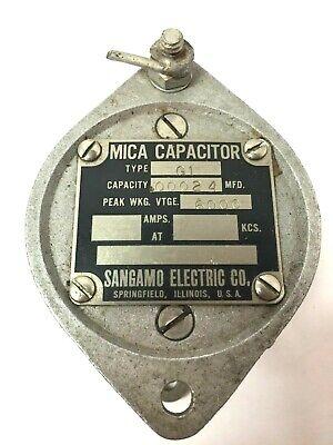 Sangamo Mica Transmitting Capacitor Type G1 - .00024 Mfd 6000v