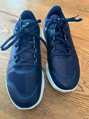 New Mens Black & White Under Armour Tennis Shoes Size 9